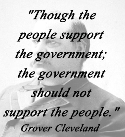 Support - Grover Cleveland Sticker