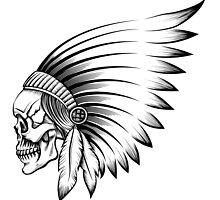 Indian Skull Emblem by devaleta