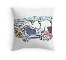 London to Brighton End Throw Pillow