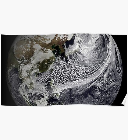 Cloud simulation of a single day centered over the western Pacific. Poster