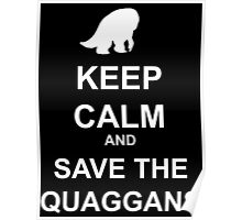 Keep Calm and save the quaggans Poster