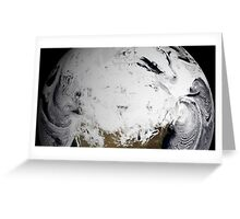 Cloud simulation of a single day centered over Canada.  Greeting Card