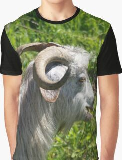 Side View of A Billy Goat Grazing Graphic T-Shirt