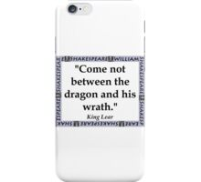 Come Not Between - Shakespeare iPhone Case/Skin