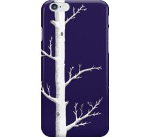Trees on Ink Blue iPhone Case/Skin