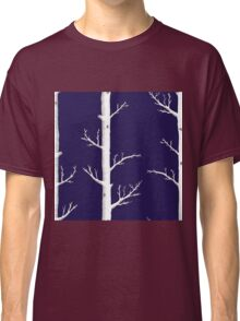 Trees on Ink Blue Classic T-Shirt