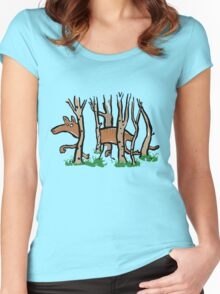 the elusive thylacine Women's Fitted Scoop T-Shirt