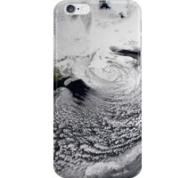 Cloud simulation of a single day centered over the Atlantic. iPhone Case/Skin