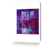 Purple Number Greeting Card
