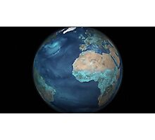 Full Earth showing evaporation over the Atlantic Ocean and the surrounding continents. Photographic Print