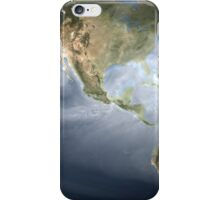 Full Earth view showing water vapor over the Americas. iPhone Case/Skin