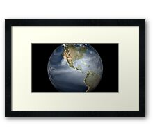 Full Earth view showing water vapor over the Americas. Framed Print