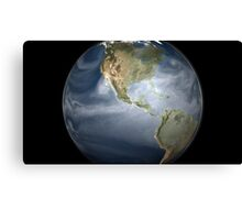 Full Earth view showing water vapor over the Americas. Canvas Print
