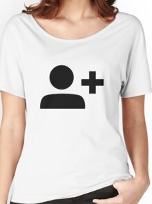 Add Friend Symbol Women's Relaxed Fit T-Shirt