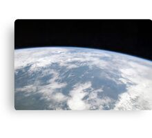 View of planet Earth from space. Canvas Print