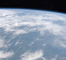 View of planet Earth from space. Sticker