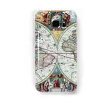Beautiful Colorful Antique Vintage World Map Samsung Galaxy Case/Skin