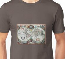 Beautiful Colorful Antique Vintage World Map Unisex T-Shirt