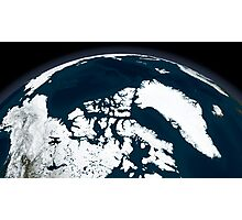 View over Greenland and the Arctic Ocean.  Photographic Print