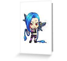 Chibi Jinx Greeting Card