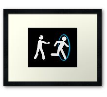 In The Event Of Zombies Use Portal Framed Print