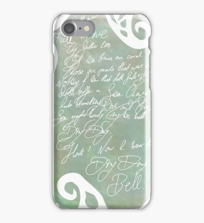 Of his bones are coral made - Shakespeare's Tempest iPhone Case/Skin