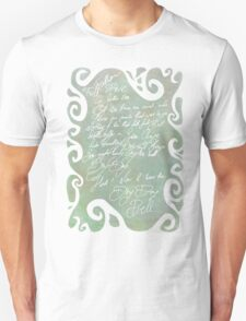 Of his bones are coral made - Shakespeare's Tempest Unisex T-Shirt