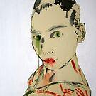 Self Portrait on paper by Simone Maynard