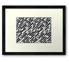 Grunge Brush Srokes Pattern Diagonal Framed Print