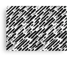 Grunge Brush Srokes Pattern Diagonal Canvas Print
