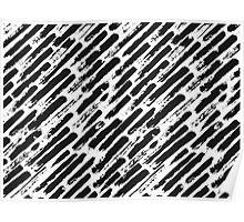 Grunge Brush Srokes Pattern Diagonal Poster