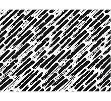 Grunge Brush Srokes Pattern Diagonal Photographic Print
