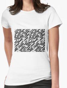 Grunge Brush Srokes Pattern Diagonal Womens Fitted T-Shirt
