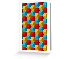 Hex pattern 2 Greeting Card
