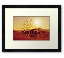 Dessert Sun Framed Print