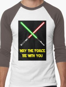 May the force be with you-star wars fanart Men's Baseball ¾ T-Shirt