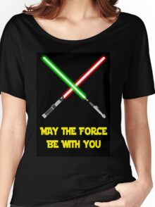 May the force be with you-star wars fanart Women's Relaxed Fit T-Shirt