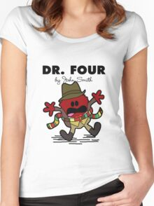 Dr Four Women's Fitted Scoop T-Shirt