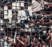 Caged prisoners Sticker