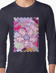 beautiful cool design square pink  Long Sleeve T-Shirt