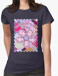 beautiful cool design square pink  Womens Fitted T-Shirt