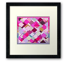 beautiful cool design square pink  Framed Print