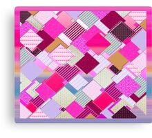 beautiful cool design square pink  Canvas Print