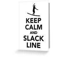 Keep calm and Slackline Greeting Card