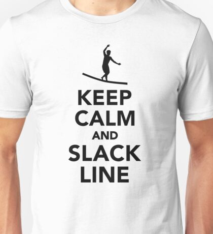 Keep calm and Slackline Unisex T-Shirt