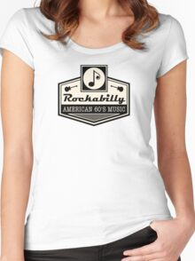 Rockabilly American 60's Music Women's Fitted Scoop T-Shirt