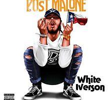 White Iverson Post Malone by benmarlow97