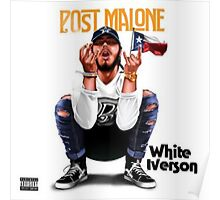 White Iverson Post Malone Poster