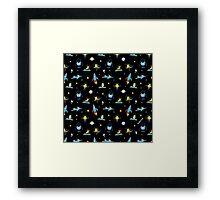 Dim distant deep space Framed Print