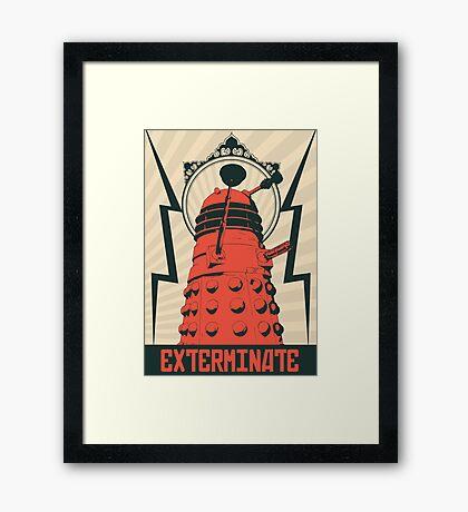 Dr Who Dalek Framed Print